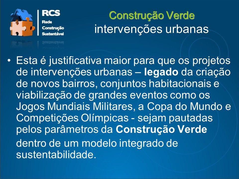 Construção Verde intervenções urbanas