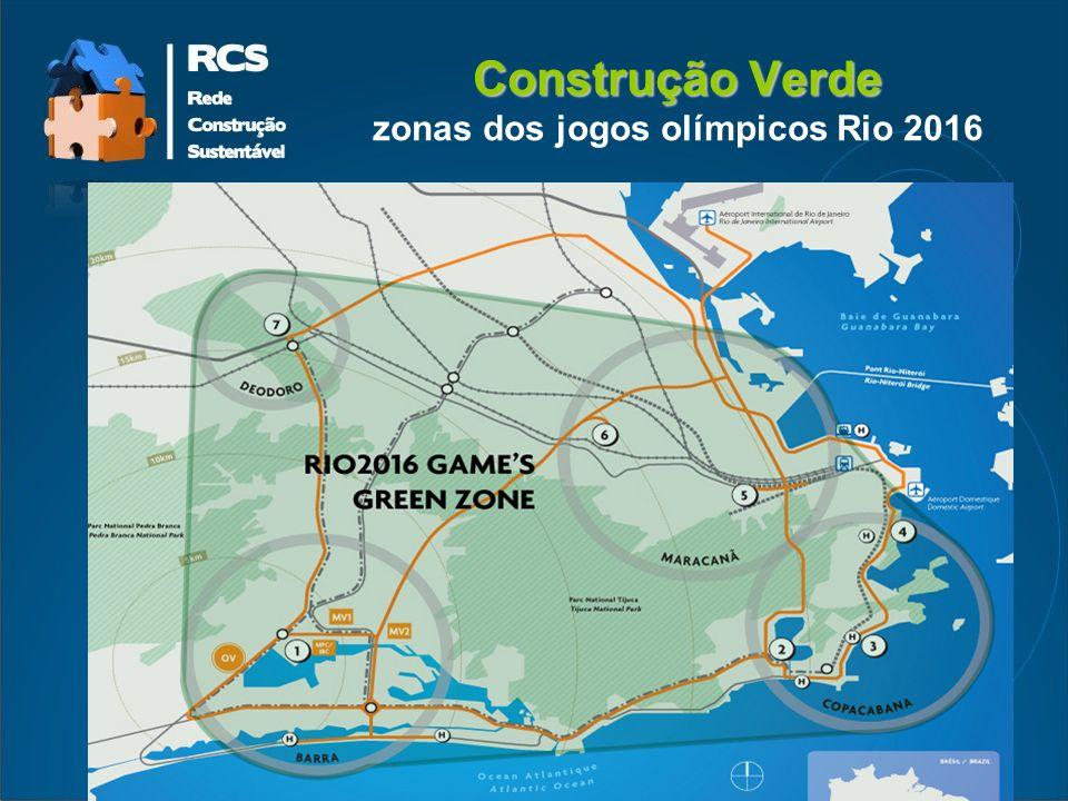 Construção Verde zonas dos jogos olímpicos Rio 2016