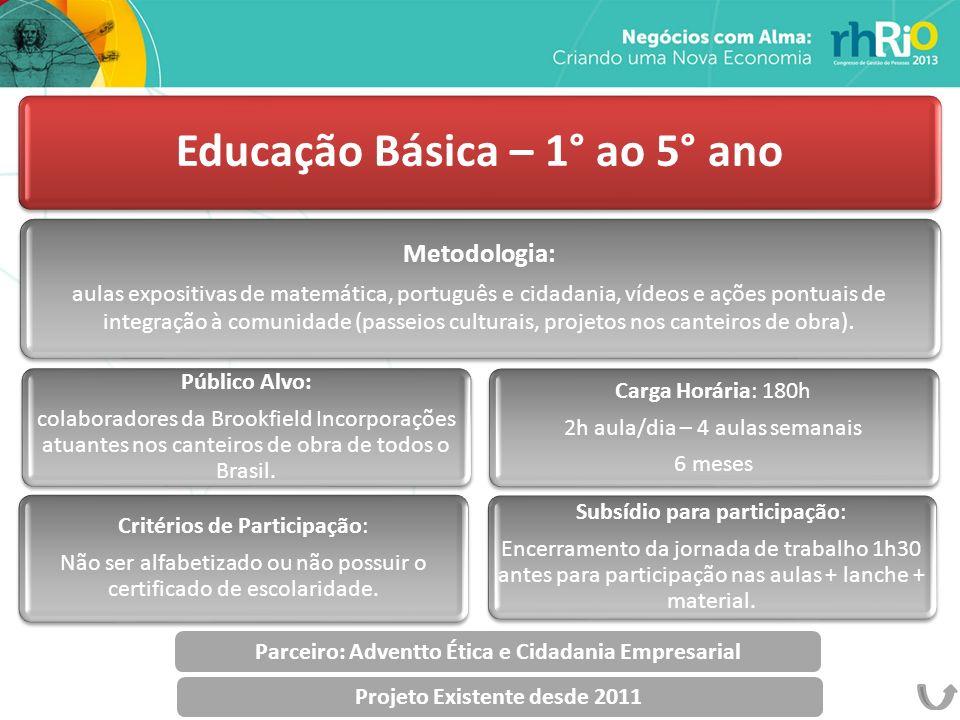 Educação Básica – 1° ao 5° ano