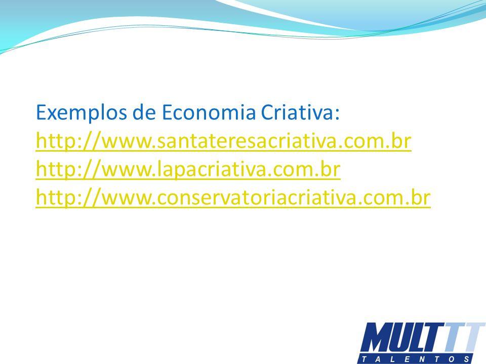 Exemplos de Economia Criativa: