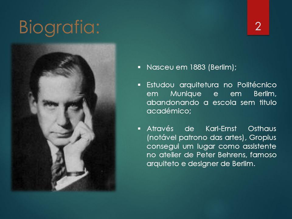Biografia: Nasceu em 1883 (Berlim);