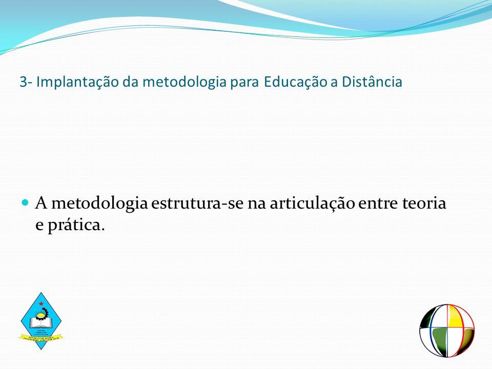 3- Implantação da metodologia para Educação a Distância