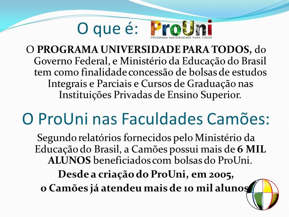 O ProUni nas Faculdades Camões: