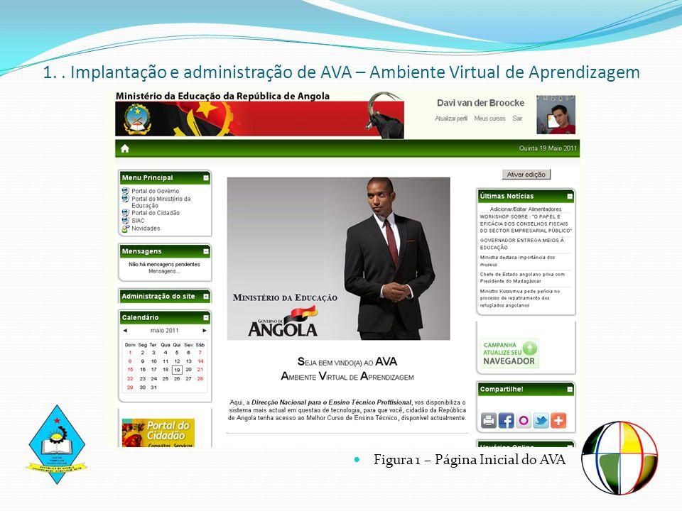 1. . Implantação e administração de AVA – Ambiente Virtual de Aprendizagem
