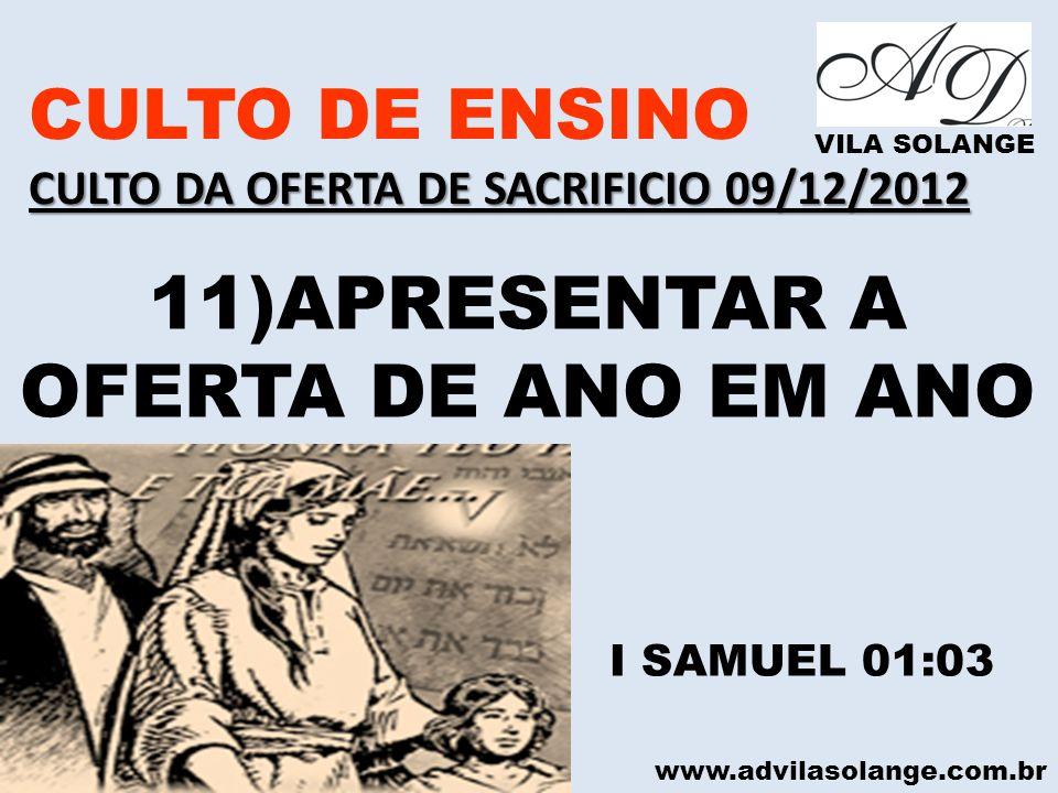 11)APRESENTAR A OFERTA DE ANO EM ANO