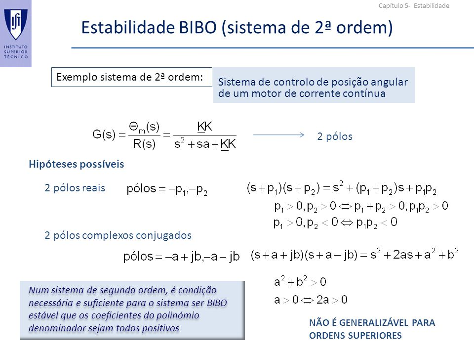 Estabilidade BIBO (sistema de 2ª ordem)