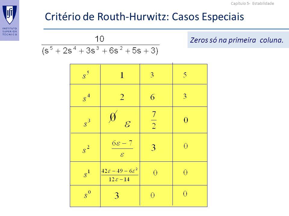 Critério de Routh-Hurwitz: Casos Especiais