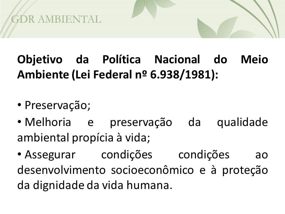 Objetivo da Política Nacional do Meio Ambiente (Lei Federal nº 6
