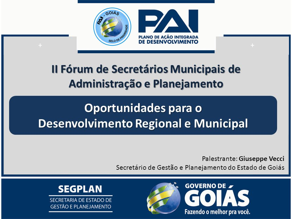 Oportunidades para o Desenvolvimento Regional e Municipal