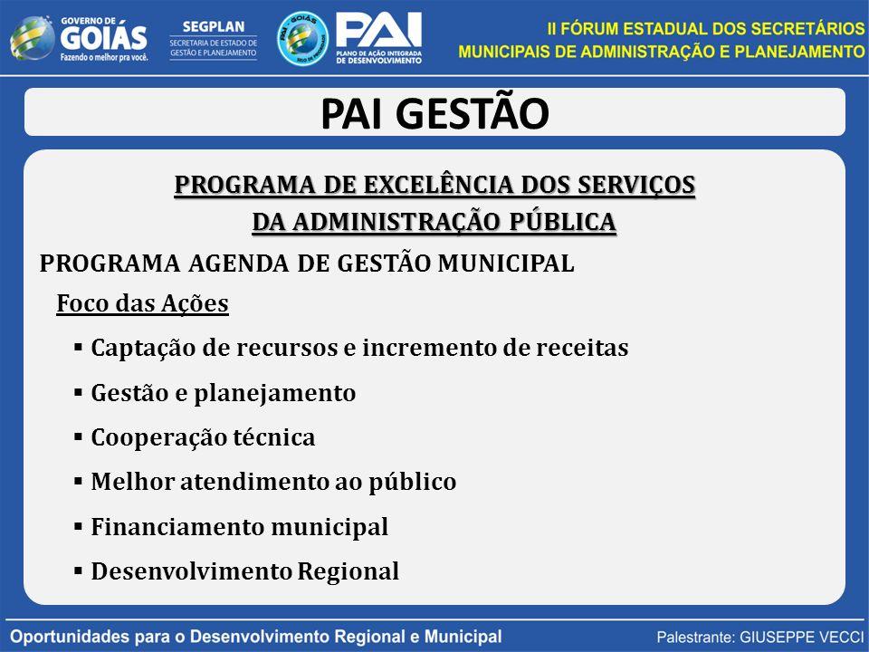 PROGRAMA DE EXCELÊNCIA DOS SERVIÇOS DA ADMINISTRAÇÃO PÚBLICA