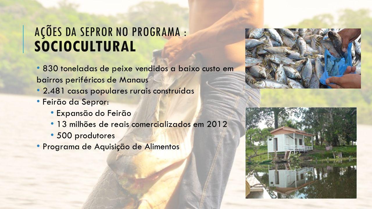 Ações da Sepror no programa : sociocultural