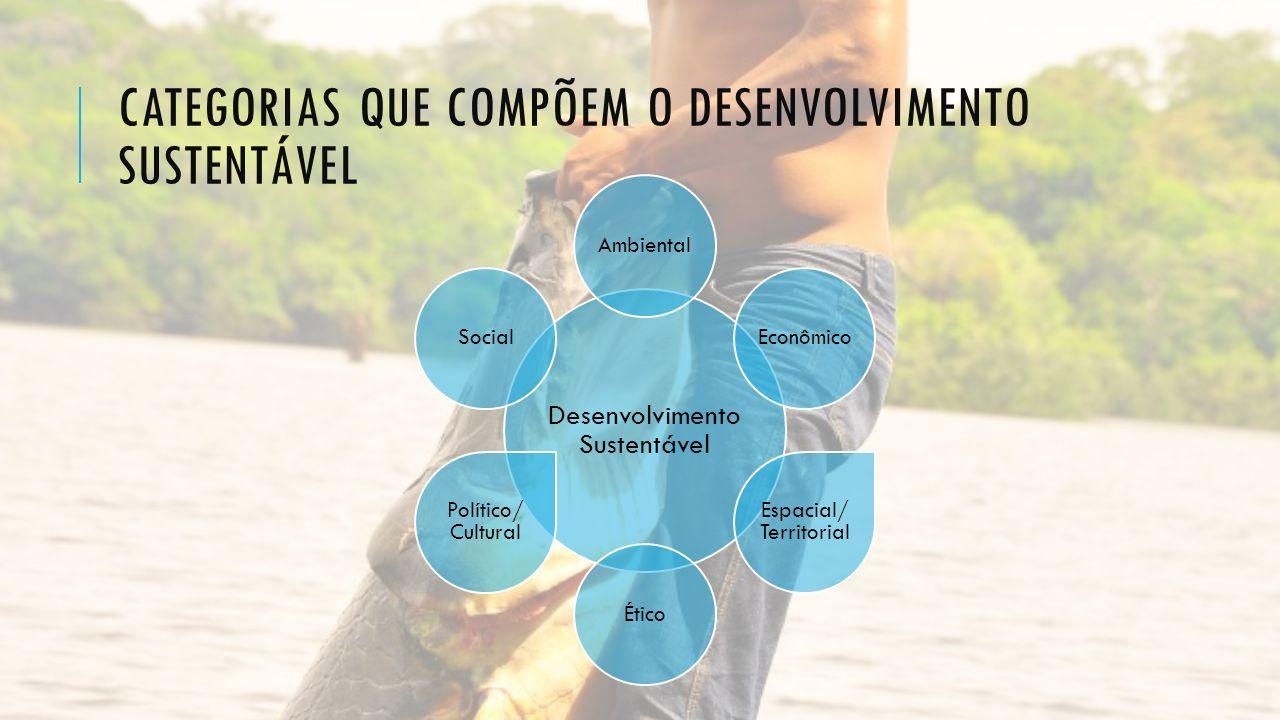 Categorias que compõem o desenvolvimento sustentável
