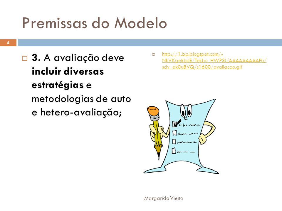 Premissas do Modelo 3. A avaliação deve incluir diversas estratégias e metodologias de auto e hetero-avaliação;