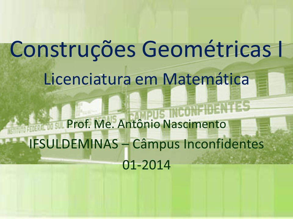 Construções Geométricas I