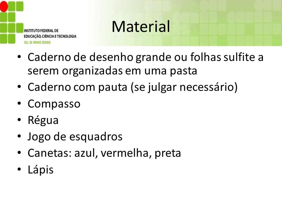 Material Caderno de desenho grande ou folhas sulfite a serem organizadas em uma pasta. Caderno com pauta (se julgar necessário)