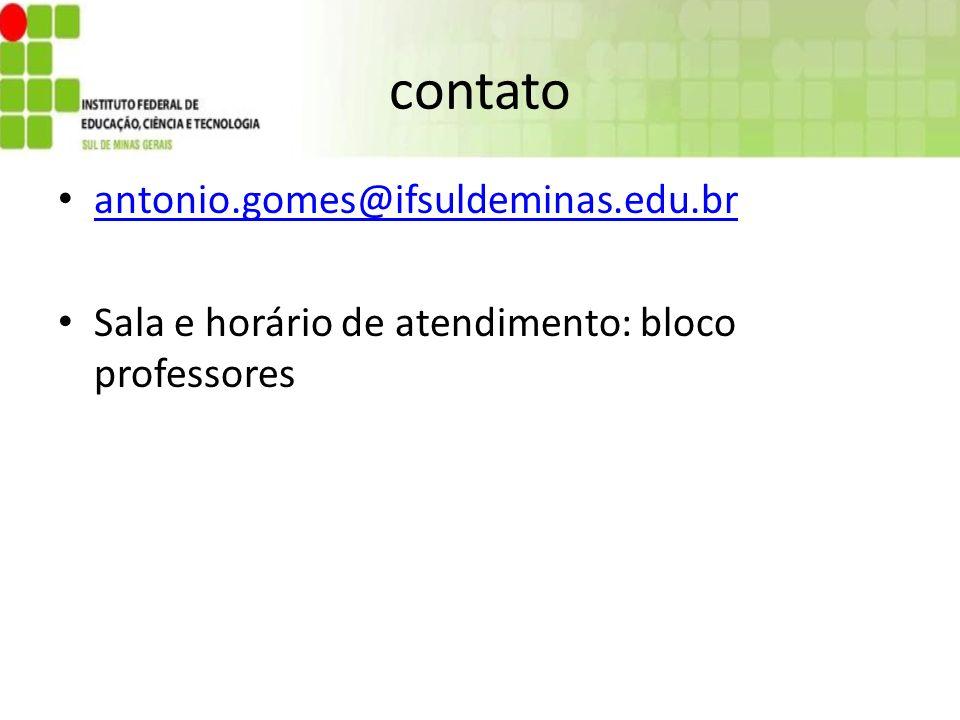 contato antonio.gomes@ifsuldeminas.edu.br