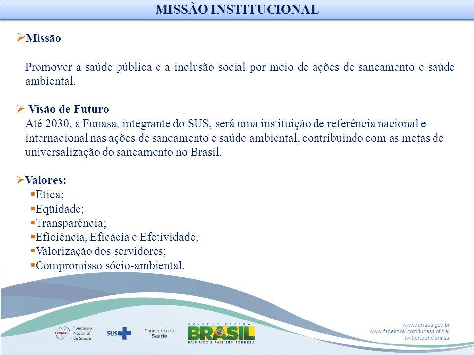 MISSÃO INSTITUCIONAL Missão