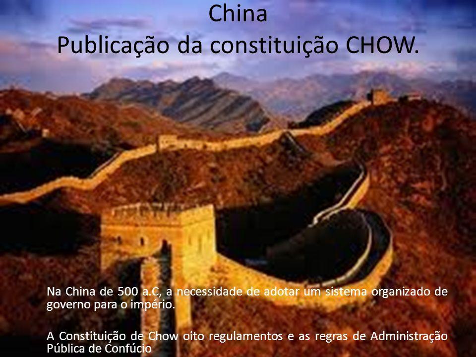 China Publicação da constituição CHOW.