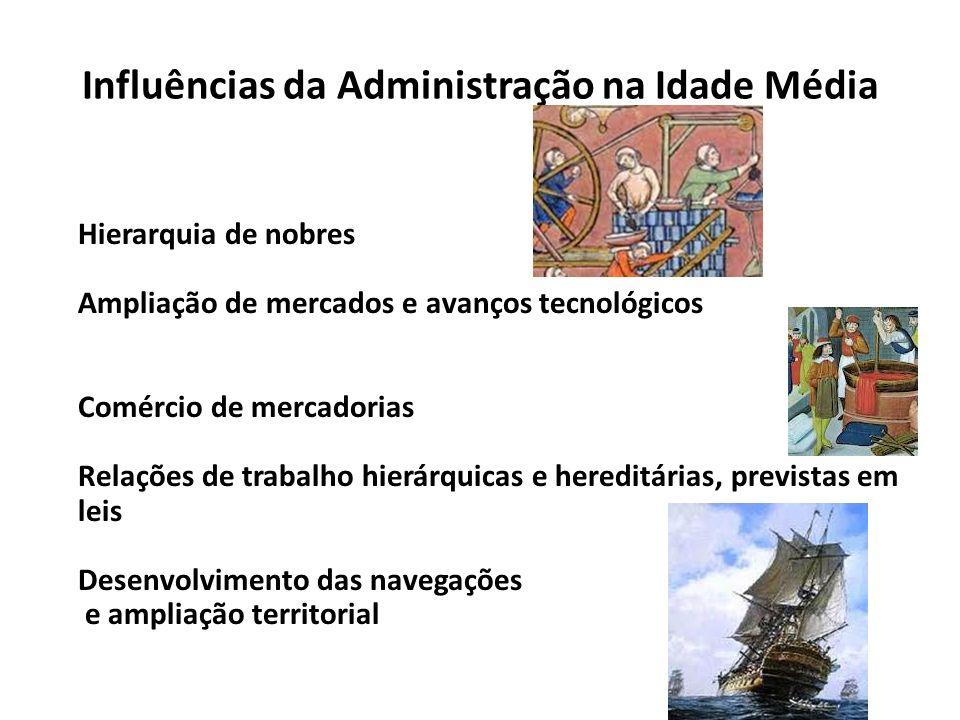 Influências da Administração na Idade Média