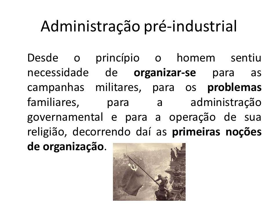 Administração pré-industrial