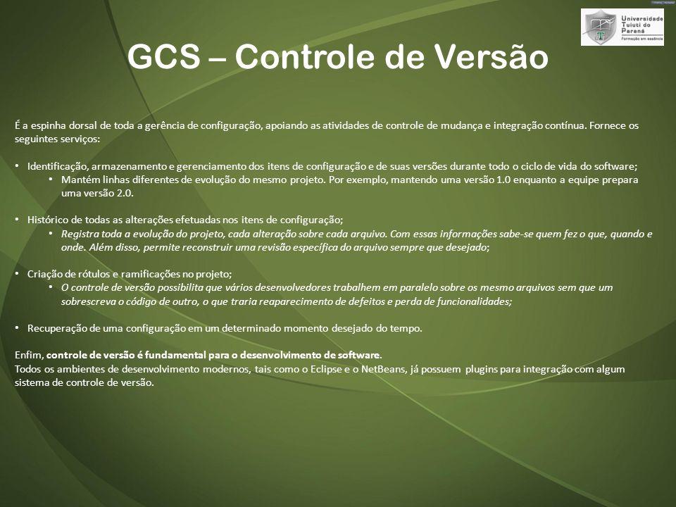 GCS – Controle de Versão