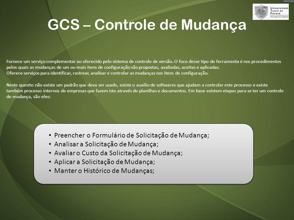 GCS – Controle de Mudança