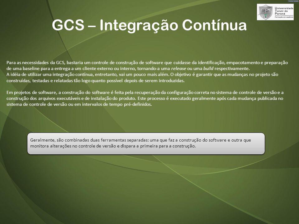 GCS – Integração Contínua