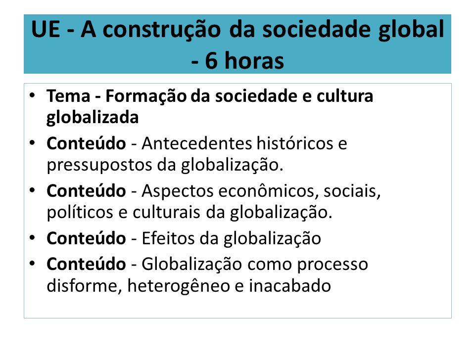 UE - A construção da sociedade global - 6 horas