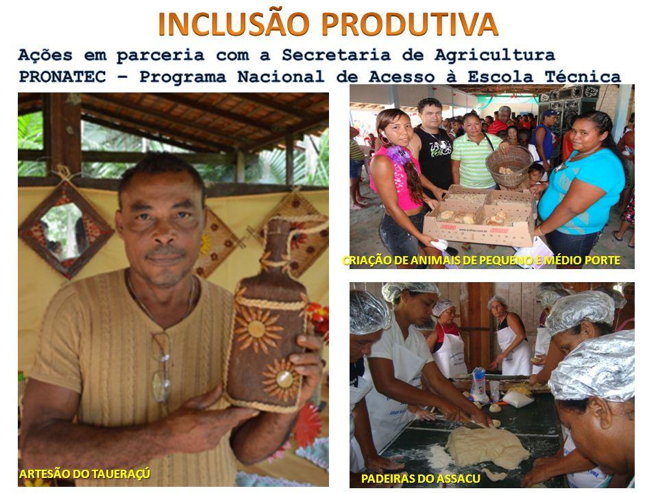 INCLUSÃO PRODUTIVA Ações em parceria com a Secretaria de Agricultura