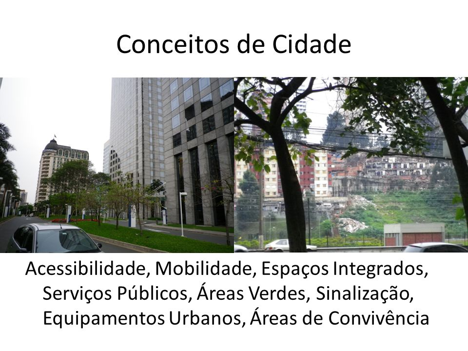 Conceitos de Cidade