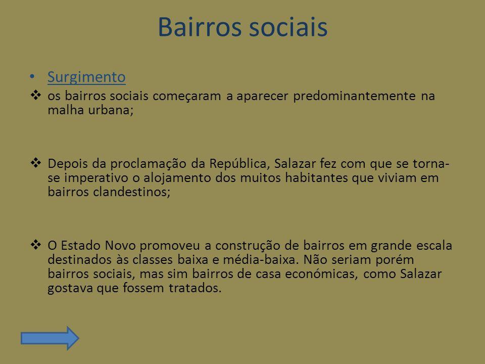 Bairros sociais Surgimento