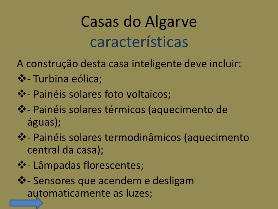 Casas do Algarve características