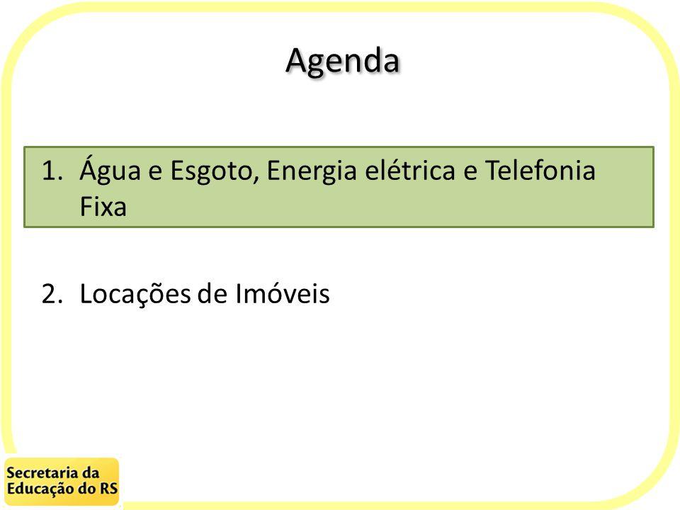 Agenda Água e Esgoto, Energia elétrica e Telefonia Fixa