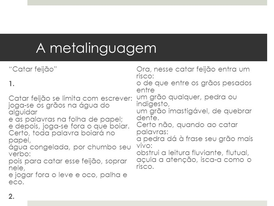 A metalinguagem