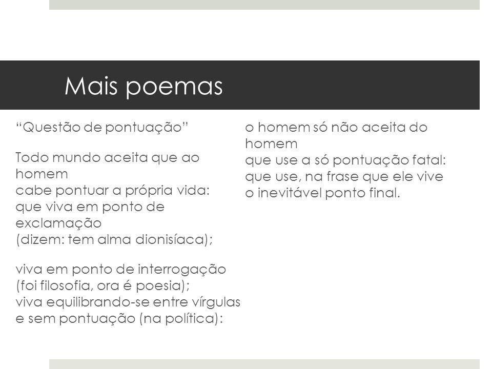 Mais poemas