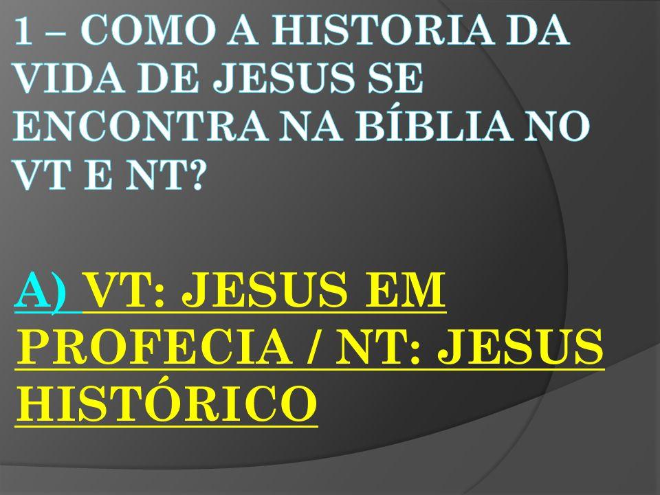 1 – COMO A HISTORIA DA VIDA DE JESUS SE ENCONTRA NA BÍBLIA NO VT E NT