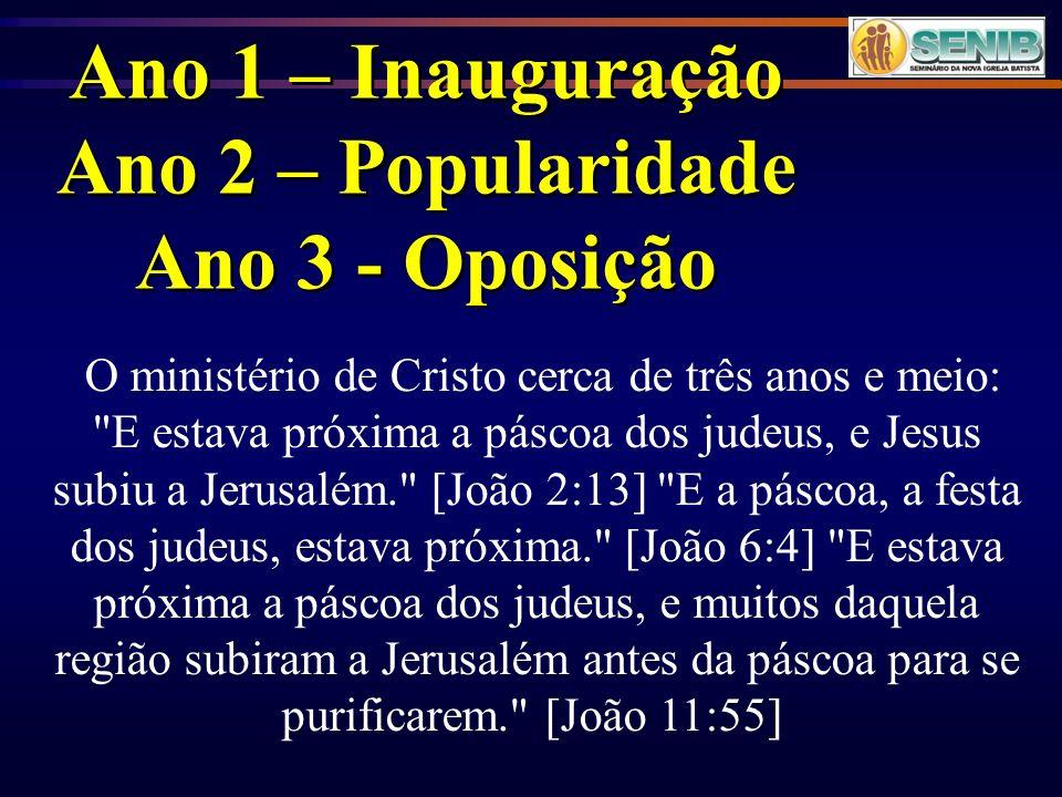 Ano 1 – Inauguração Ano 2 – Popularidade Ano 3 - Oposição