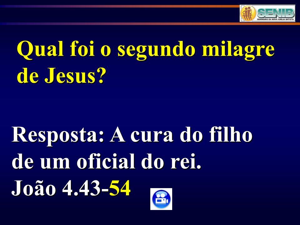 Qual foi o segundo milagre de Jesus