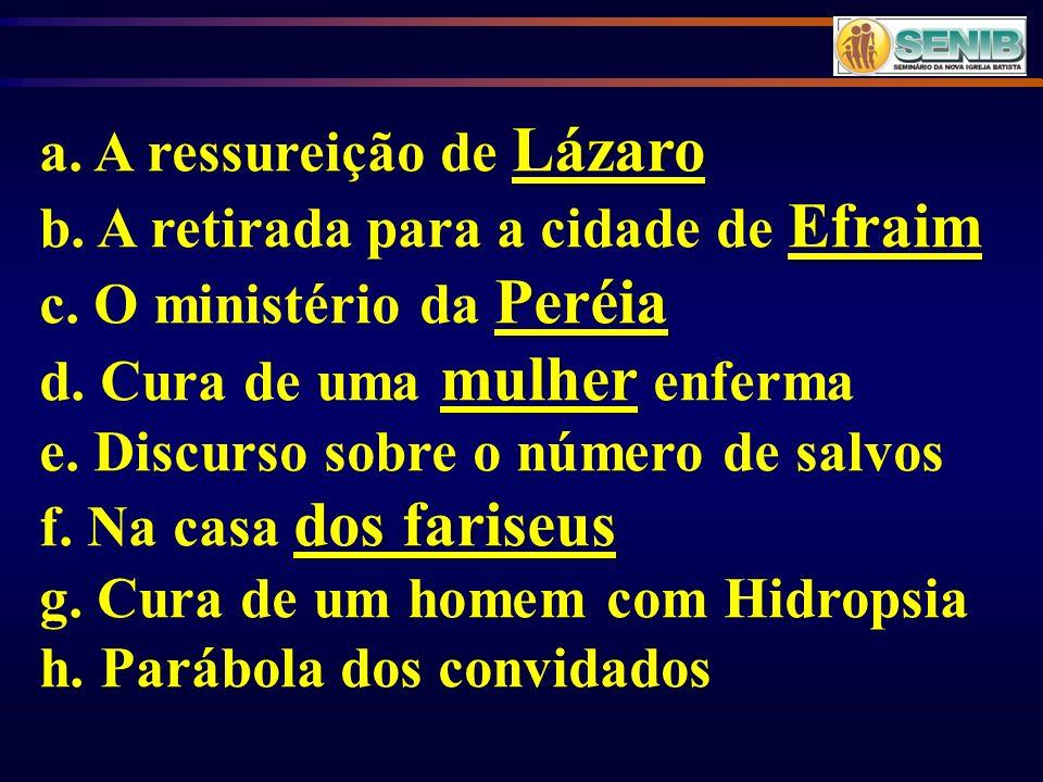 a. A ressureição de Lázaro