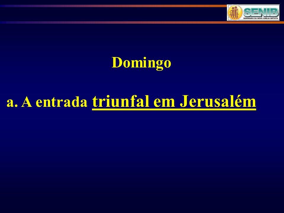 Domingo a. A entrada triunfal em Jerusalém