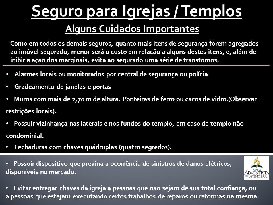 Seguro para Igrejas / Templos