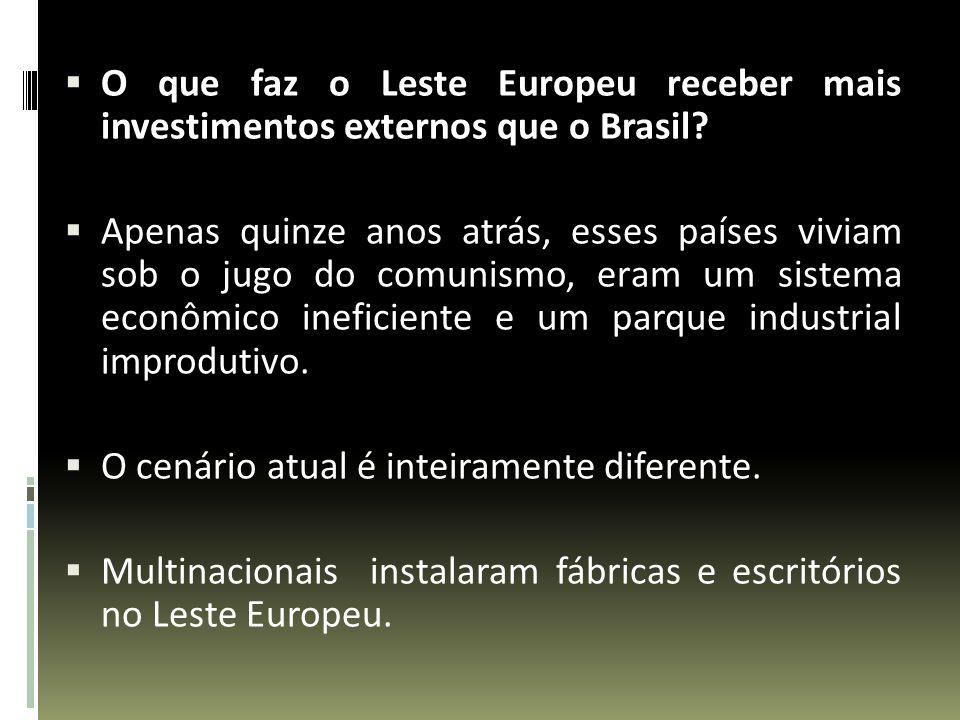 O que faz o Leste Europeu receber mais investimentos externos que o Brasil