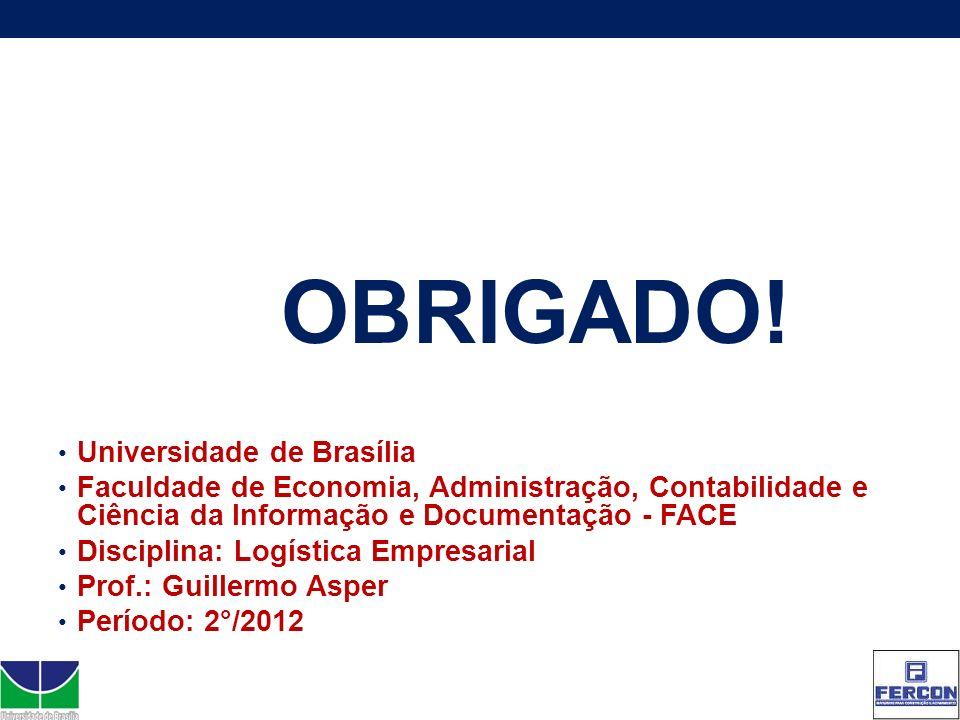 OBRIGADO! Universidade de Brasília