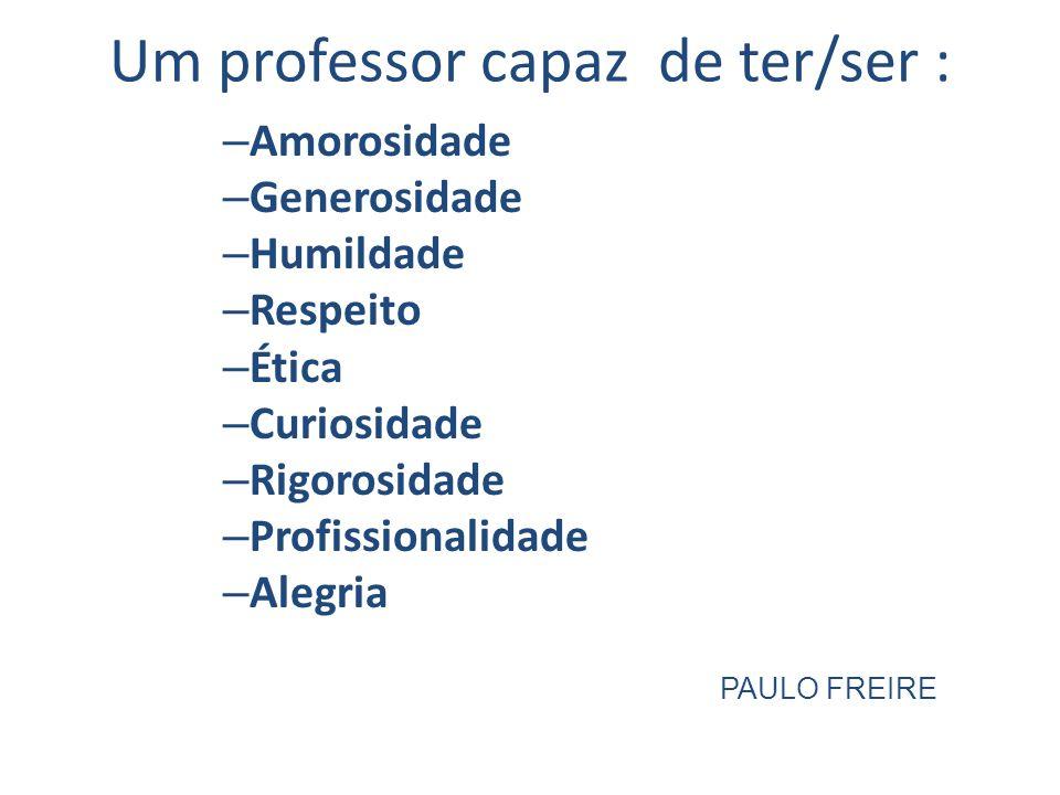 Um professor capaz de ter/ser :