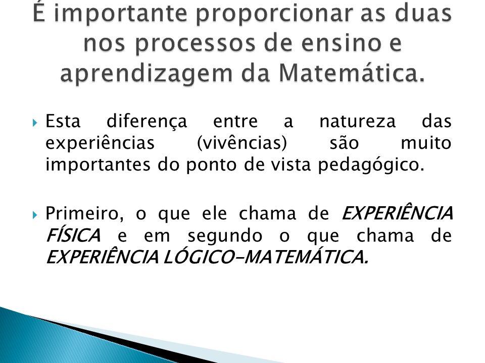 É importante proporcionar as duas nos processos de ensino e aprendizagem da Matemática.