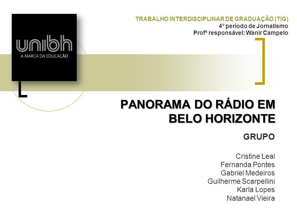PANORAMA DO RÁDIO EM BELO HORIZONTE