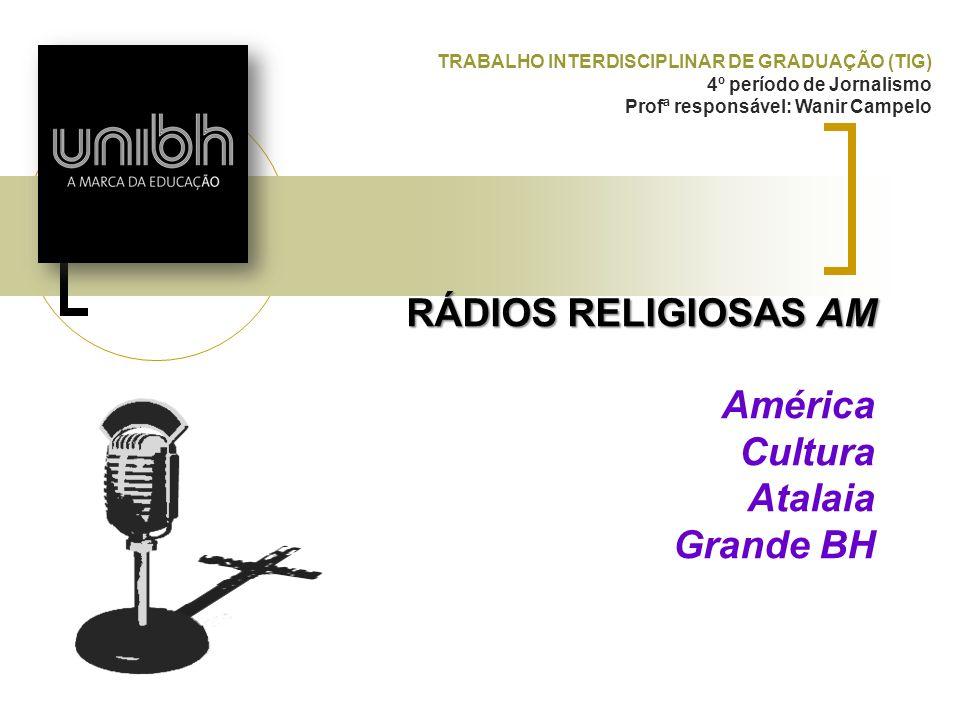 RÁDIOS RELIGIOSAS AM América Cultura Atalaia Grande BH