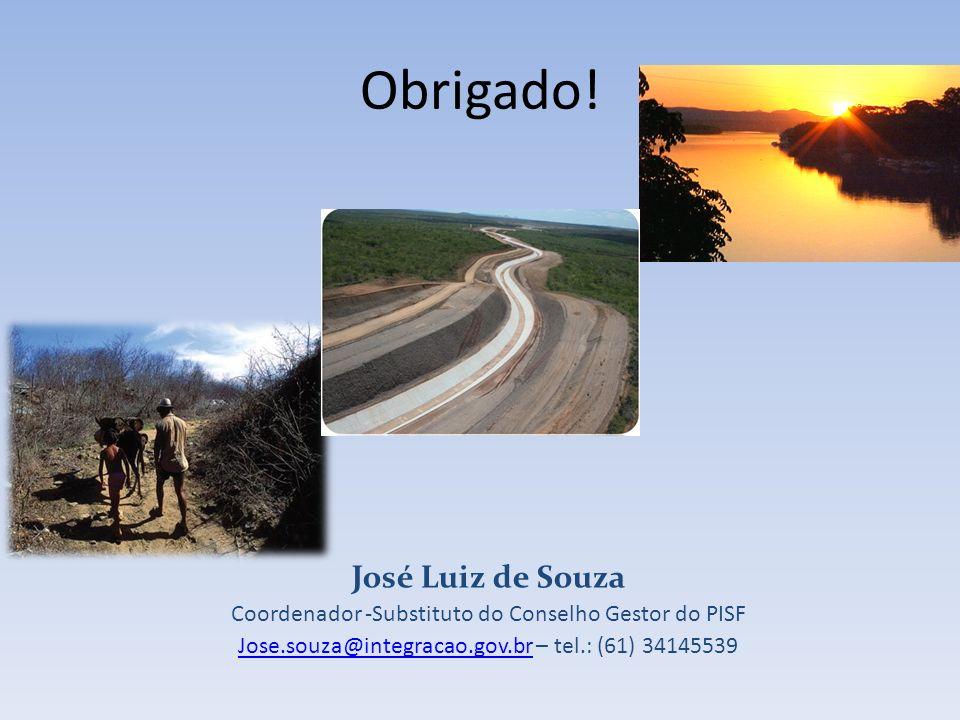 Obrigado! José Luiz de Souza