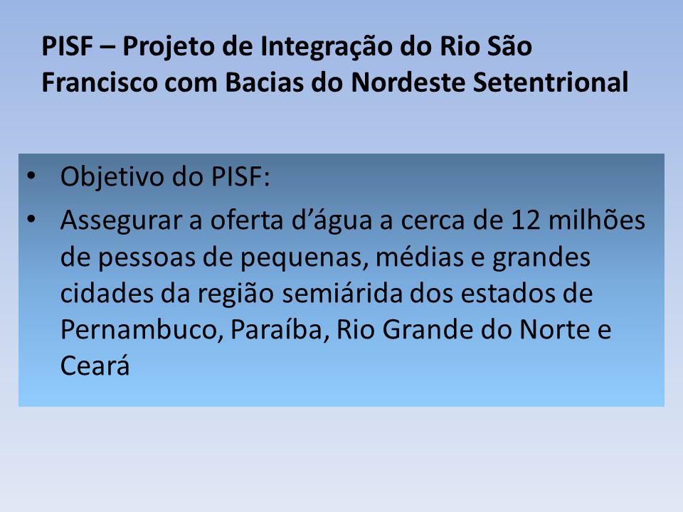 PISF – Projeto de Integração do Rio São Francisco com Bacias do Nordeste Setentrional