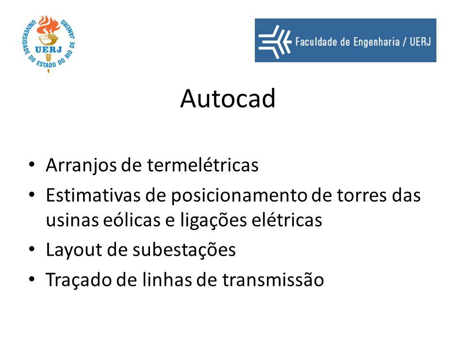 Autocad Arranjos de termelétricas